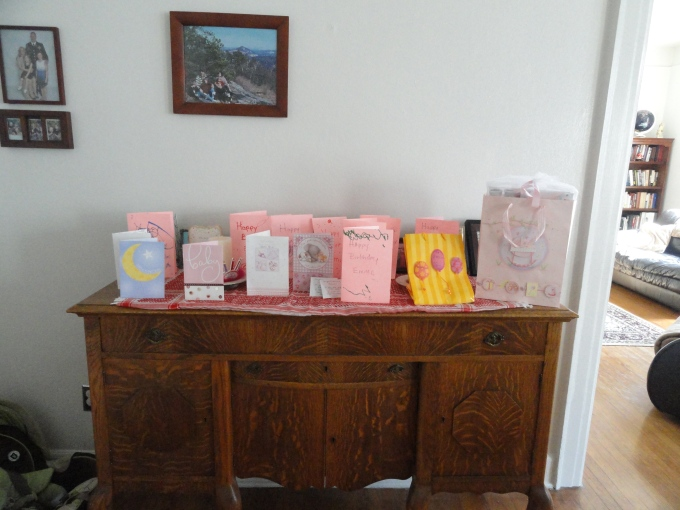 sweet outpouring of cards, in retrospect, of Emma's birth--from school, family, and friends :-)