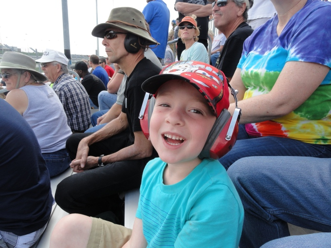 A fun daddy date to the racetrack!!!