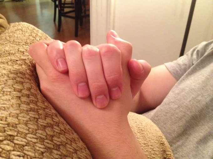 Simple expression of an indescribable relationship…(side note, aren't my husband's hands so beautiful?!)