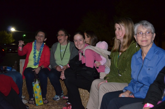 hayride to the bonfire!!! :)