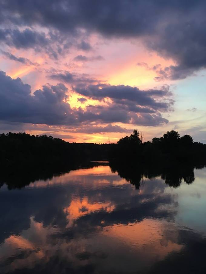 beautiful sunset Savannah Rapids Pavilion early June 2017