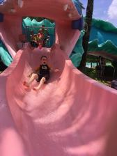 Lewis coming down the slide Port Orleans 2017