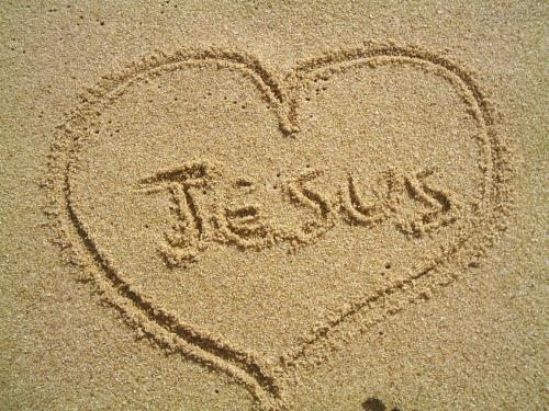 loving Jesus-sand